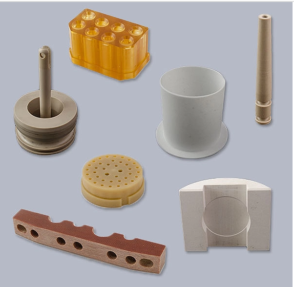 CNC machining a variety of precision plastic components PC ABS POM Nylon peek aluminium parts processing